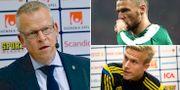 Janne Andersson, Marcus Berg och Oscar Wendt. TT