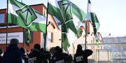 Ett 40-tal medlemmar i Nordiska motståndsrörelsen, NMR, anordnade en icke tillståndsgiven demonstration i centrala Jönköping i februari TT / TT NYHETSBYRÅN