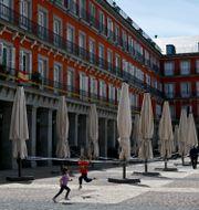 Plaza Mayor i Madrid. GABRIEL BOUYS / TT NYHETSBYRÅN