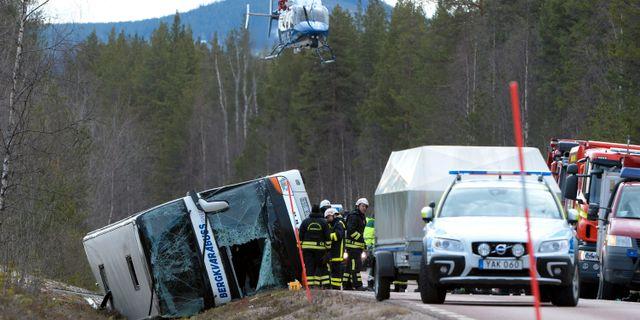 Olycksplatsen.  Nisse Schmidt/TT / TT NYHETSBYRÅN