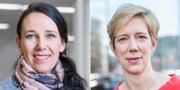 Annika Winsth, chefsekonom på Nordea, och Anna Breman, Swedbanks chefsekonom.  Nordea / TT