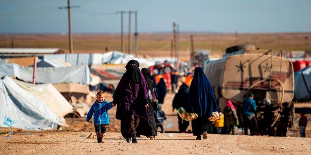 Al hol-lägret i Syrien. DELIL SOULEIMAN / AFP