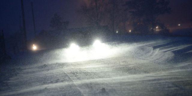 Det kan bli besvärligt på vägarna i Norrlands inland.  TT