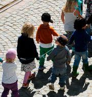Förskolebarn på promenad. Arkivbild.  Hasse Holmberg/TT / TT NYHETSBYRÅN