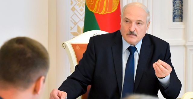 Aleksandr Lukasjenko Andrei Stasevich / TT NYHETSBYRÅN
