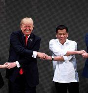 Donald Trump och Rodrigo Duterte.  NOEL CELIS / POOL