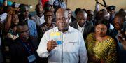 Félix Tshisekedi röstar i valet i Kongo-Kinshasa. Jerome Delay / TT NYHETSBYRÅN/ NTB Scanpix