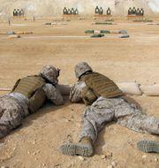 Arkivbild från al-Asad-basen. Eric Talmadge / TT NYHETSBYRÅN