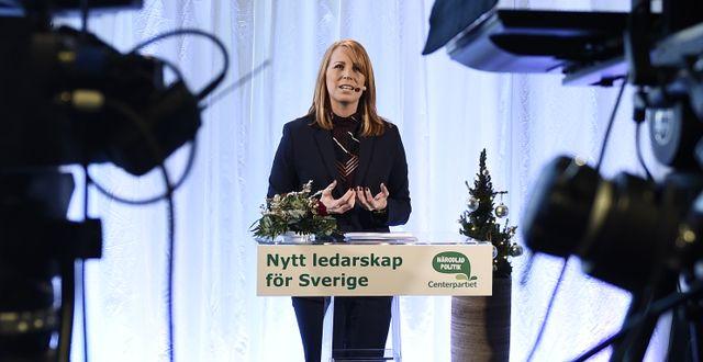 Det har varit mycket ljus på Centerpartiet och ledaren Annie Lööfs opinionsframgångar i veckan. Arkivbild. Stina Stjernkvist/TT / TT NYHETSBYRÅN