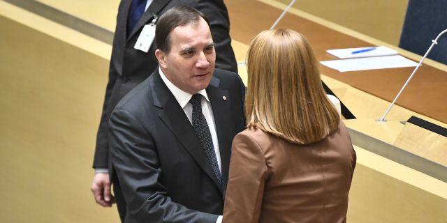 Stefan Löfven och Annie Lööf.  Claudio Bresciani/TT / TT NYHETSBYRÅN