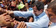 Venezuelas oppositionsledare Juan Guaidó.  Ariana Cubillos / TT NYHETSBYRÅN