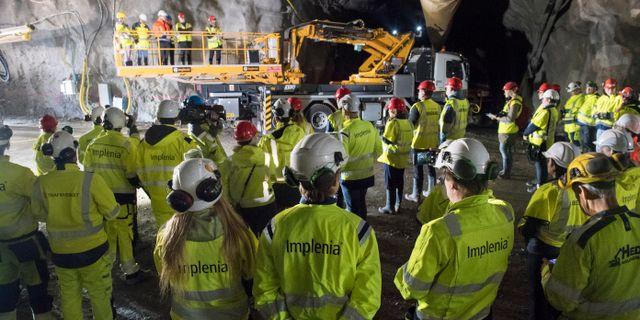 Tunnelarbetare i Vinsta i Stockholm. Arkivbild. Fredrik Sandberg/TT / TT NYHETSBYRÅN