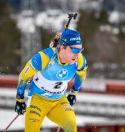 Sebastian Samuelsson under jaktstarten på lördagen Anders Wiklund/TT / TT NYHETSBYRÅN