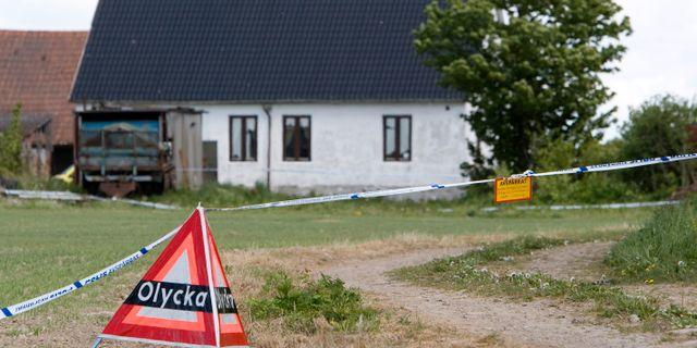 Bostaden i Kastberga i Eslöv där en Knut Nilsson hittades mördad. Stig-Åke Jönsson / TT NYHETSBYRÅN