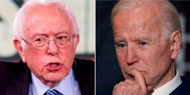Bernie Sanders och Joe Biden. TT