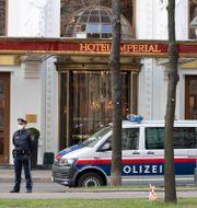 Hotell Imperial i Wien där den iranska delegationen bor. Florian Schroetter / TT NYHETSBYRÅN