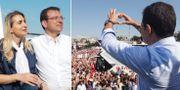 Imamoglu tillsammans med sin fru.  AFP / TT