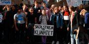 Greta Thunberg under en demonstration i Paris. Francois Mori / TT NYHETSBYRÅN/ NTB Scanpix