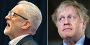 Jeremy Corbyn och Boris Johnson.  TT/AP