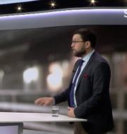 Skärmdump från SVT:s Aktuellt.