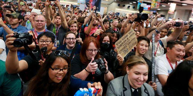 Agents of S.H.I.E.L.D.-fans på Comic-Con. SANDY HUFFAKER / TT NYHETSBYRÅN