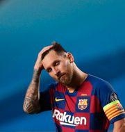 En bedrövad Messi efter 8–2-förlusten mot Bayern München i Champions League i veckan. Manu Fernandez / TT NYHETSBYRÅN