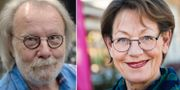 Benny Andersson och Gudrun Schyman. Arkivbilder. TT