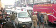 Räddningspådrag i New Delhi efter branden.  ANI / TT NYHETSBYRÅN