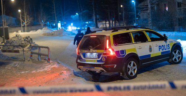 Bild från brottsplatsen den 23 januari. Samuel Pettersson/TT / TT NYHETSBYRÅN