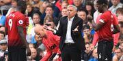 Mourinho under Uniteds förlustmatch mot Brighton. GLYN KIRK / AFP