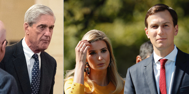 Specialåklagare Robert Mueller, Ivanka Trump och Jared Kushner. TT