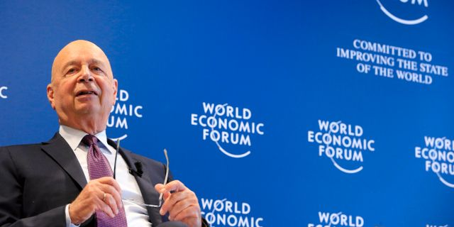 World Economic Forums ordförande Klaus Schwab. Arkiv. PIERRE ALBOUY / TT NYHETSBYRÅN