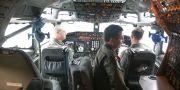 Kontrollrummet i Boeing E-3A.  ARIS OIKONOMOU / AFP