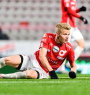 Degerfors Axel Lindahl under förlustmatchen senast. FREDRIK KARLSSON / BILDBYRÅN