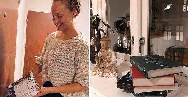 Sanna Jansson både säljer och köper kurslitteratur genom bokappen Bookis.  Privat