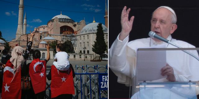 Hagia Sofia/Påve Franciskus.  TT
