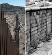Mur mellan Mexiko och USA, och Berlinmuren
