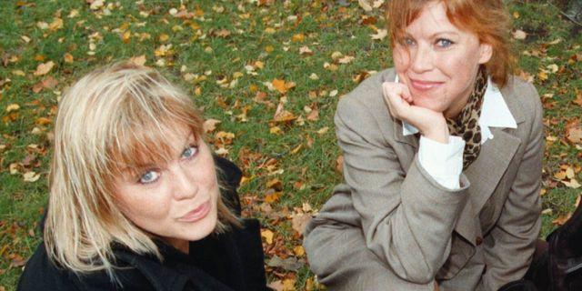 Josefin Nilsson och Marie Nilsson-Lind år 1998. Bertil Ericson / TT NYHETSBYRÅN
