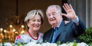 Dåvarande kung Alberg II och drottning Paola i samband med att han abdikerade 2013. Geert Vanden Wijngaert / TT NYHETSBYRÅN