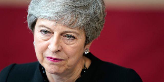 Theresa May. KENZO TRIBOUILLARD / AFP