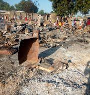 Staden Maiduguri i nordöstra Nigeria efter en attack 2018. Arkivbild.  Jossy Ola / TT NYHETSBYRÅN