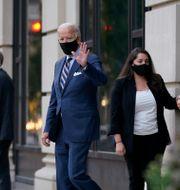 Joe Biden efter ett kampanjmöte i Wilmington, Delaware Patrick Semansky / TT NYHETSBYRÅN