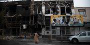 Nedbrunna hus i Iran efter de senaste dagarnas våldsamma protester. Masoume Aliakbar / TT NYHETSBYRÅN