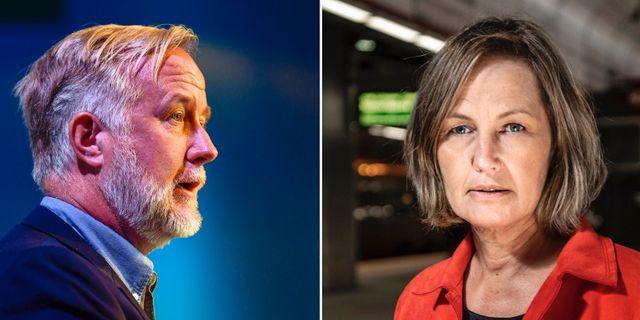 Johan Pehrson och Juno Blom. TT