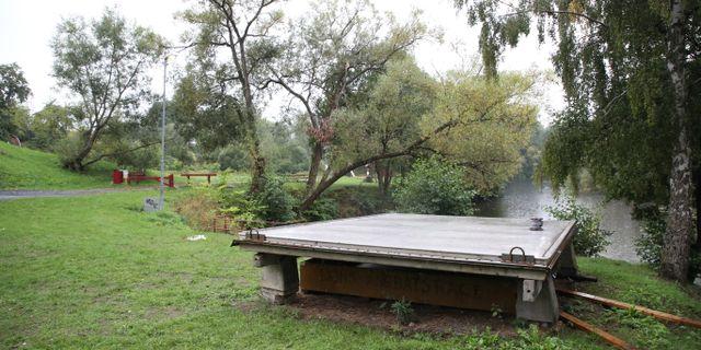 Grönområdet där den hemlösa mannen från Rumänien bodde och även dog i början av augusti. Adam Ihse/TT / TT NYHETSBYRÅN