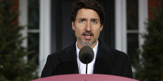 Kanadas Justin Trudeau.  DAVE CHAN / TT NYHETSBYRÅN