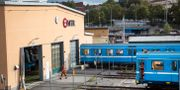 Tunnelbanevagnar tas in i Nybodadepån i Hägersten för underhåll. Helena Landstedt/TT / TT NYHETSBYRÅN