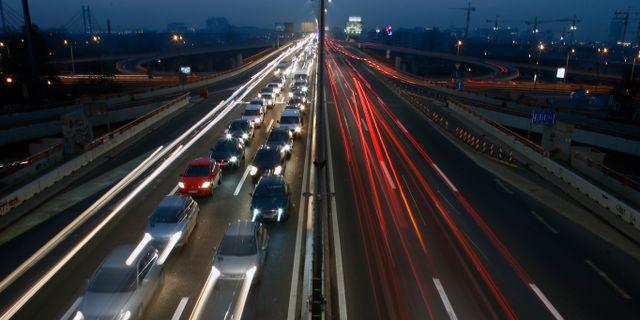 Motorväg i Belgrad, Serbien. Darko Vojinovic / TT NYHETSBYRÅN