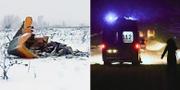 Vrakdelar från flygplanet och räddningsarbete efter flykraschen utanför Moskva. TT