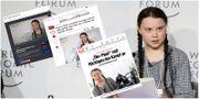 Greta Thunberg i Davos - internationella mediers artiklar om henne.  TT/Skärmdumpar